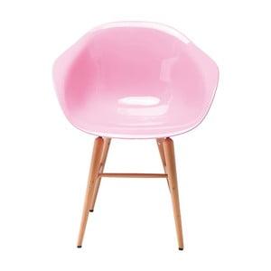 Sada 4 ružových jedálenských stoličiek Kare Design Forum Object