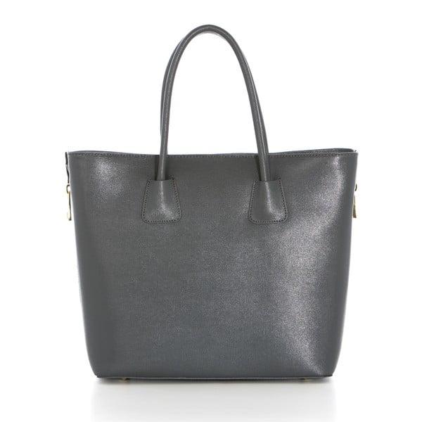 Kožená kabelka Saffiano Grigio