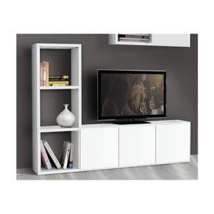 Biely trojdverový TV stolík Castagnetti Cube