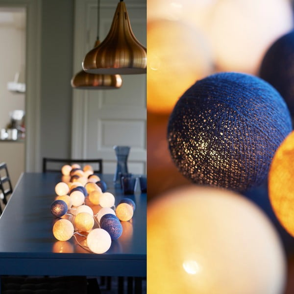 Svietiaca reťaz Irislights Nordic Blue, 10 svetielok