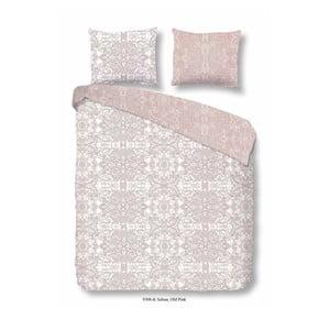 Bavlnená obliečka na jednolôžko Descanso Selma Pink, 135 x 200 cm