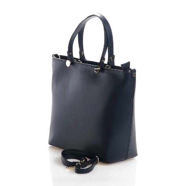 Kožená kabelka Viviana, tmavo modrá