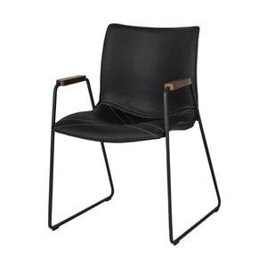 Čierna jedálenská stolička Canett Johan