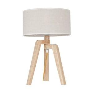 Stolová lampa s drevenou základňou Silvana