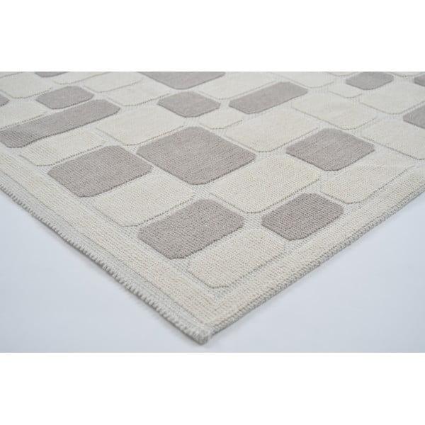 Odolný bavlnený koberec Vitaus Mozaik Bej, 120×180cm