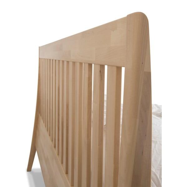 Ručne vyrábaná dvojlôžková posteľ z masívneho brezového dreva Kiteen Matinea, 160 × 200 cm
