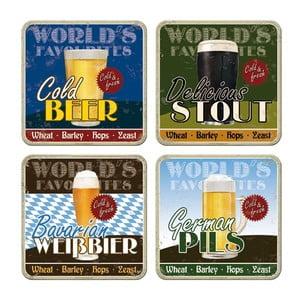 Sada 4 táciek Beer