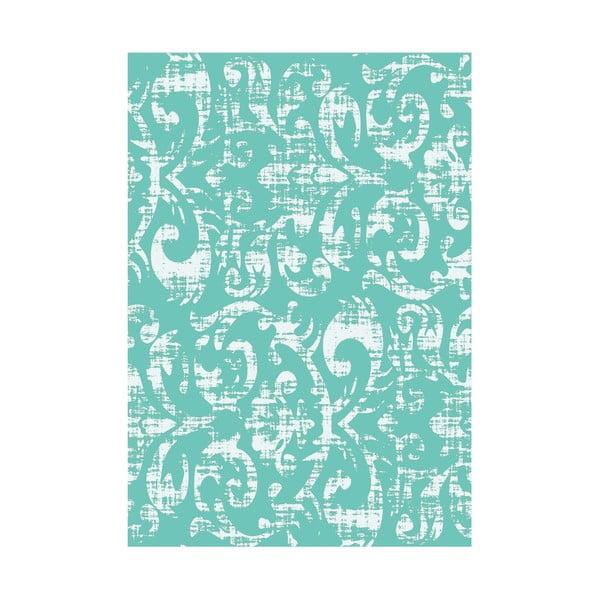 Koberec z vinylu Wallpaper Turquesa, 99x120 cm