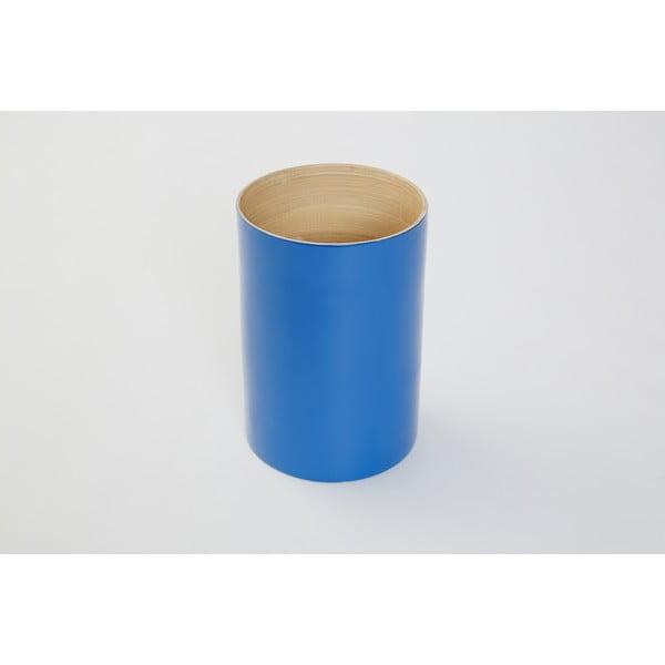 Bambusová dóza na kuchynské nástroje Compactor Bamboo Blue, 18 cm