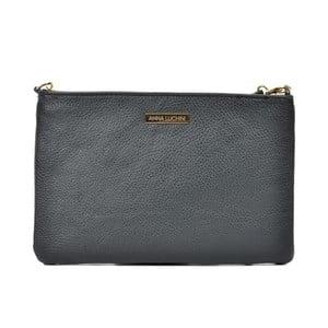 Čierna kožená kabelka Anna Luchini Miullo