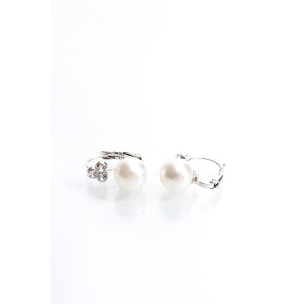 Náušnice s perličkou a krištáľmi Swarovski Elements Laura Bruni Sia
