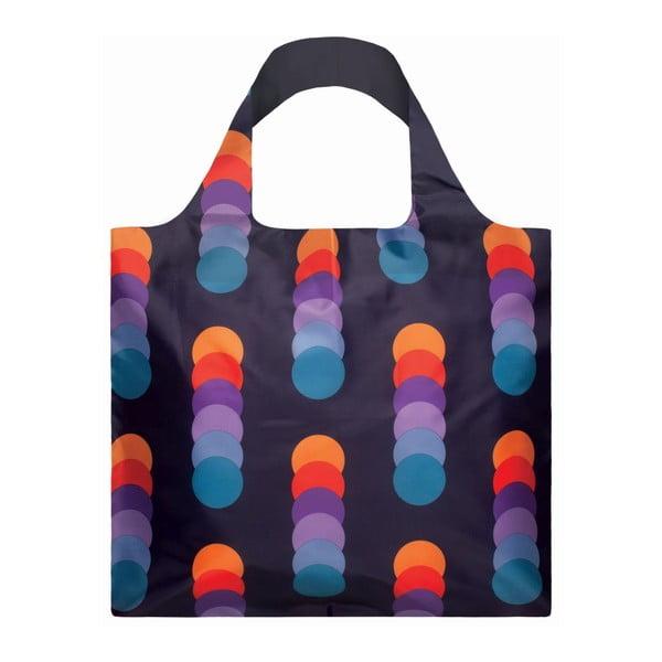 Skladacia nákupná taška skapsičkou LOQI Circles