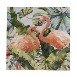 Nástenný obraz na plátne Geese Modern Style Flamingo Dos Cubico, 100 × 100 cm