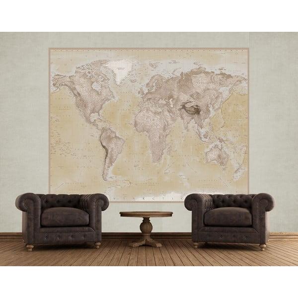 Veľkoformátová tapeta Map, 158x232 cm