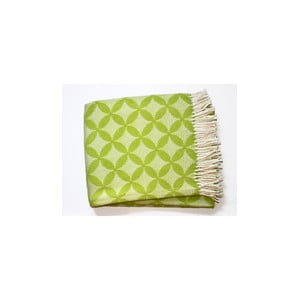 Deka Petalo Plaid Lime Green, 140x180 cm