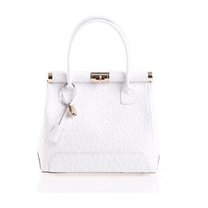 Kožená kabelka Rosalind, biela