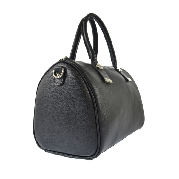 Čierna kožená kabelka Chicca Borse Jenn