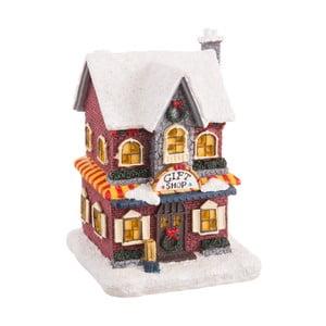 Vianočná dekorácia Unimasa House, výška 13 cm
