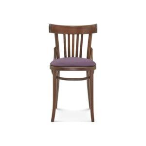 Drevená stolička s fialovým polstrovaním Fameg Mathias