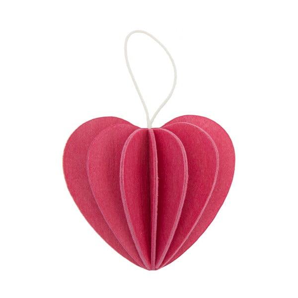 Skladacia pohľadnica Heart Pink, 4.5 cm