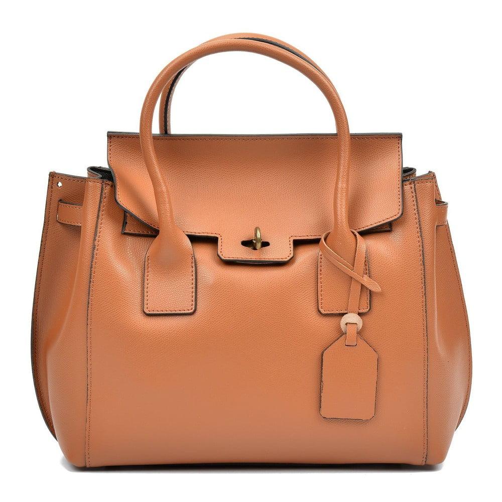 Hnedá kožená kabelka Luisa Vannini Angela