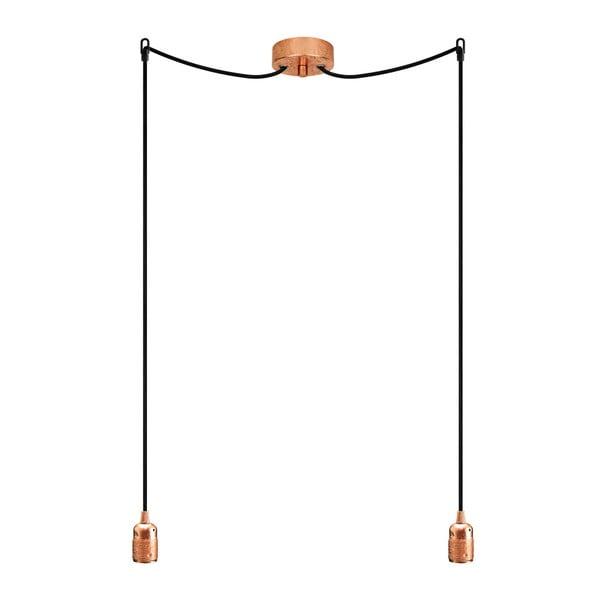 Dvojitý závesný kábel Uno, medená/čierna/medená