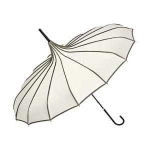 Krémový dáždnik s rúčkou Von Lilienfeld Pagoda Justine, ø 90 cm
