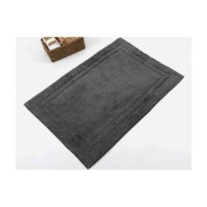 Čierna ručne tkaná kúpeľňová predložka z prémiovej bavlny Margot, 60 x 90 cm