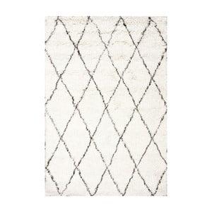 Vlnený koberec Ziggy Ivory, 120x183 cm