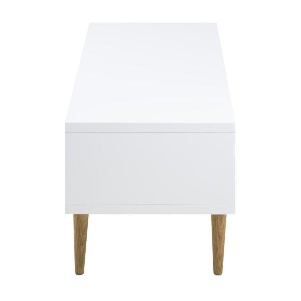Biely TV stolík Actona Elise, 180×46 cm