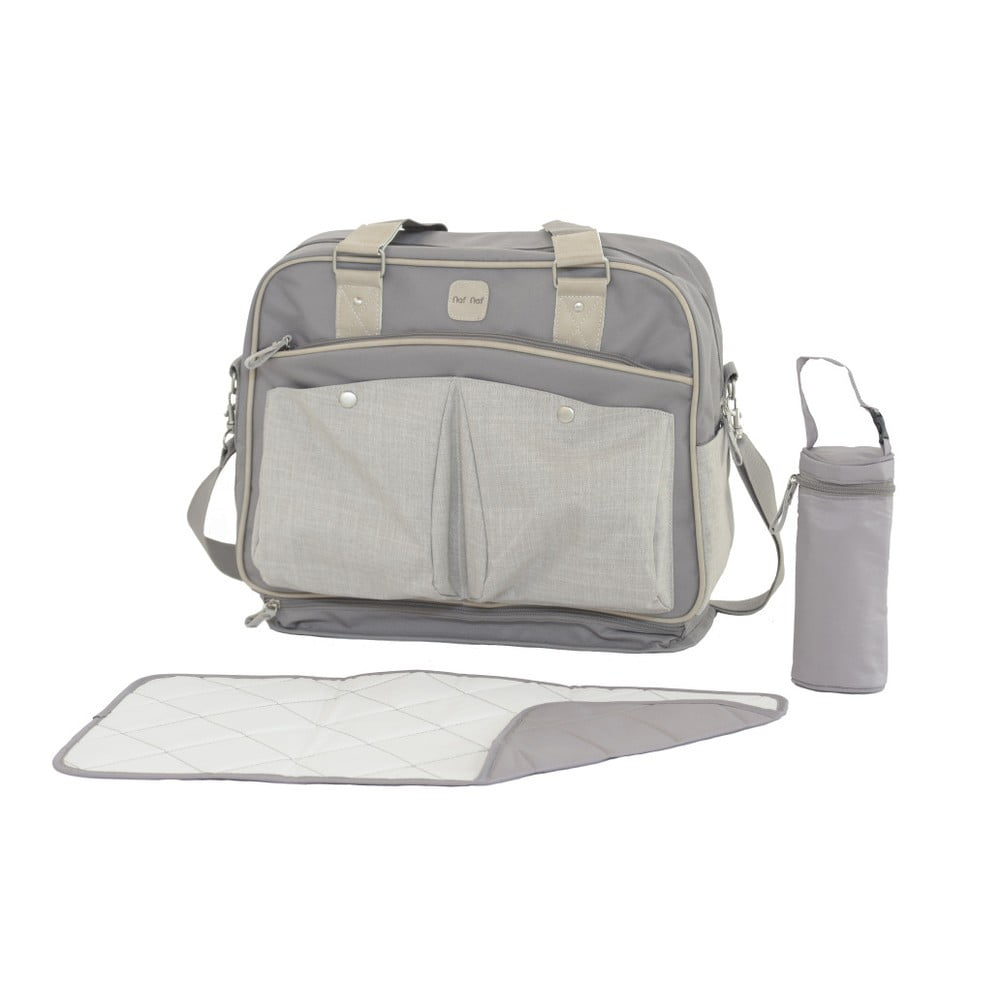 Set tašky cez rameno, prebaľovacej podložky a obalu na fľašku Tanuki Mummi Bag Puro