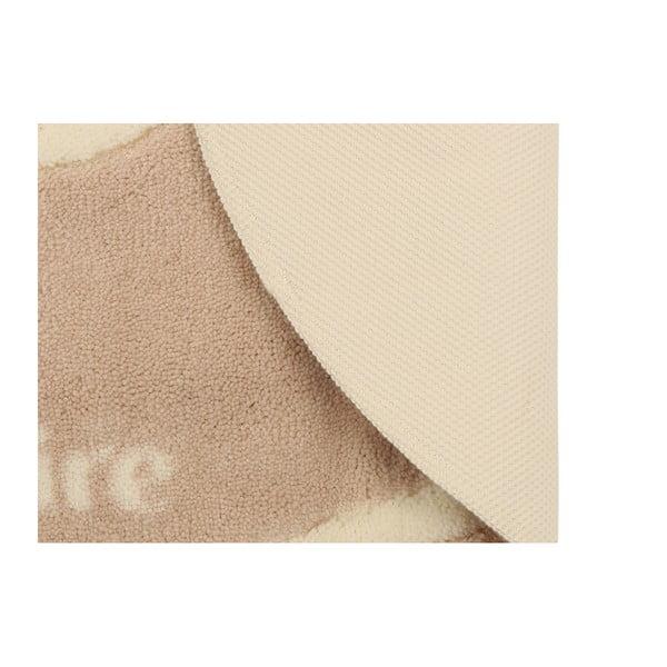 Béžová kúpeľňová predložka z edície Marie Claire Becci, 66×107 cm