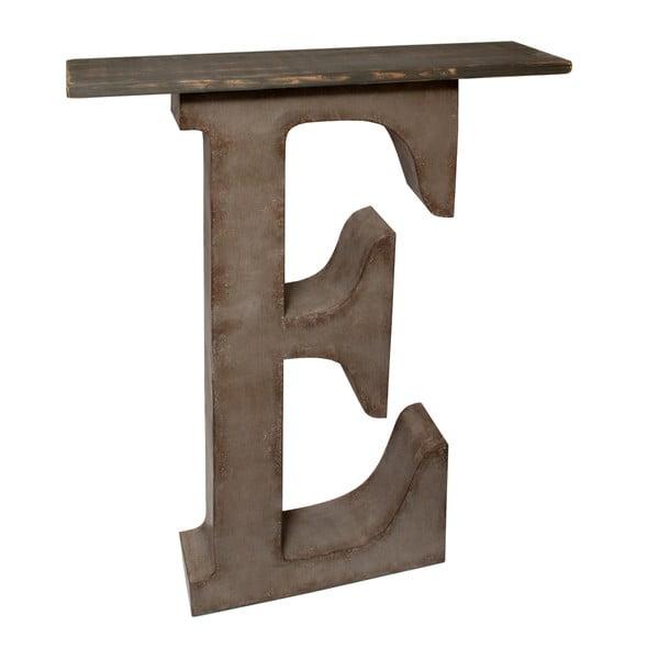 Dekoratívne písmeno s poličkou E