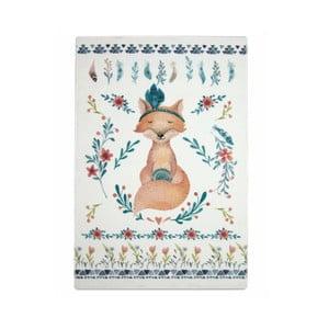 Detský ručne vyrobený koberec Naf Naf Fox, 150×100 cm