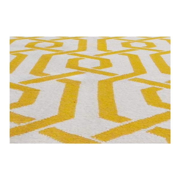 Ručne tkaný koberec Camila Yellow, 155x240 cm