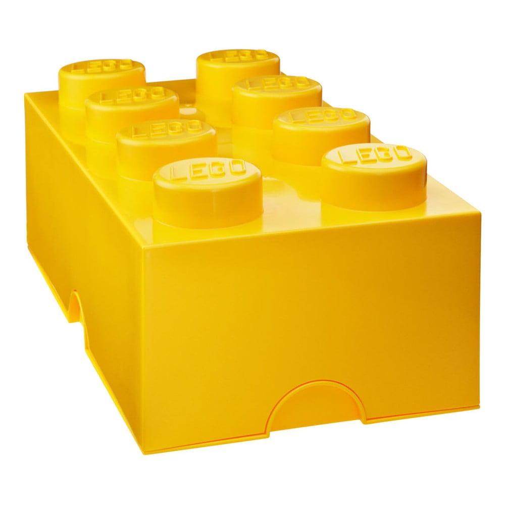Tmavožltý úložný box LEGO®