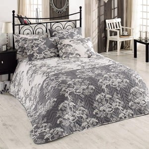 Sada prešívanej prikrývky na posteľ a dvoch vankúšov Double 208, 200x220 cm