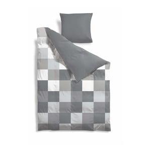 Predĺžené obliečky Grey Pixel, 140x220 cm