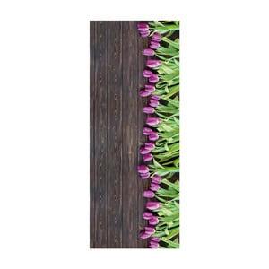 Vysokoodolný koberec Webtappeti Tulips, 58 x 80 cm