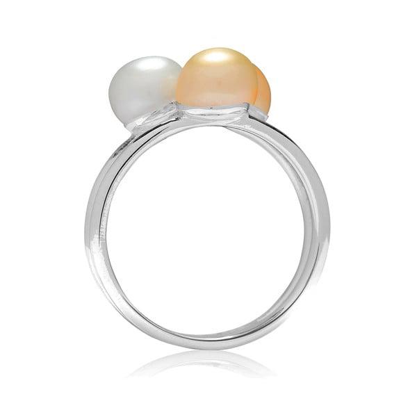 Prsteň s perlou Nova Pearls Copenhagen Delphine, veľ. 56