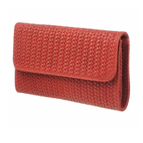 Kožená listová kabelka Sweet Red