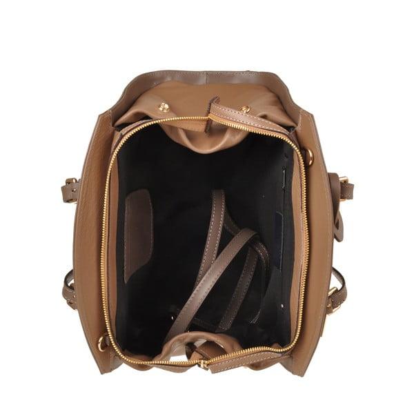 Kožená kabelka Emilio Masi Aston, béžová