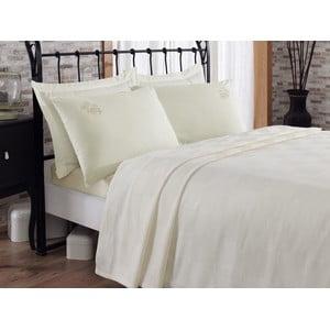 Sada prikrývky cez posteľ, plachty a 2 obliečok Gul Ecru, 200x235 cm