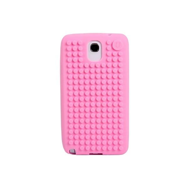Pixelový obal na Samsung Note 3, ružová