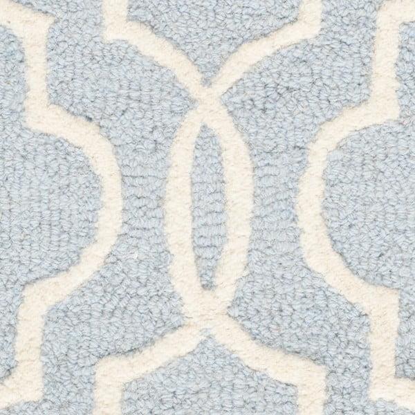 Vlnený koberec  Safavieh Elle Sky, 91x152 cm