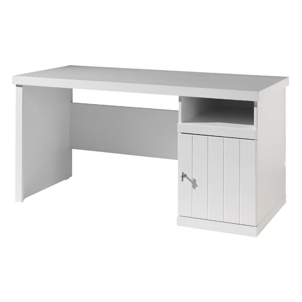 Biely detský písací stôl Vipack Robin, dĺžka 70 cm