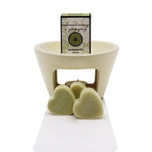 Aromalampa s vonnými voskmi s vôňou levandule a harmančeka Aromabotanical Sweet Home, doba horenia 30hodín