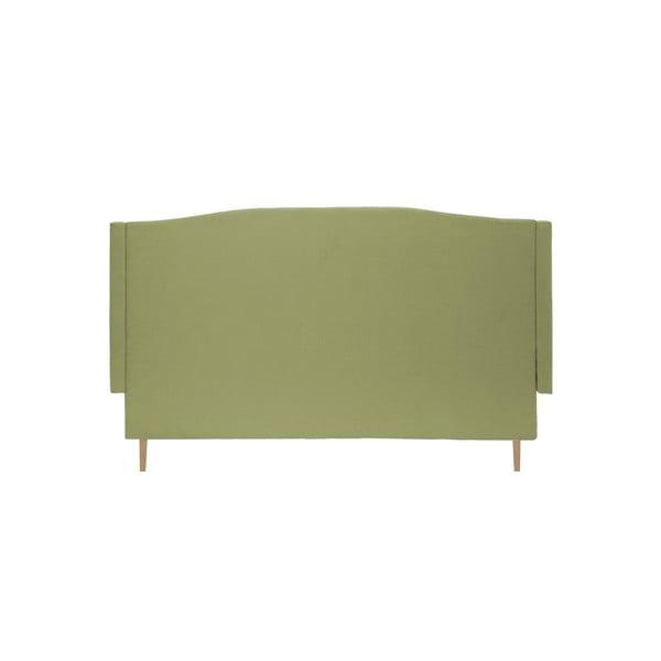 Zelená posteľ Vivonita Windsor 160x200cm, prírodné nohy