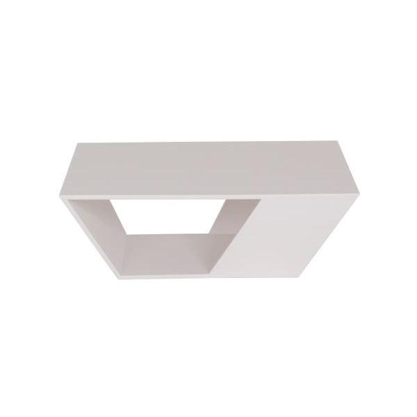 Vonkajší konferenčný stolík Gem White, 75x75 cm