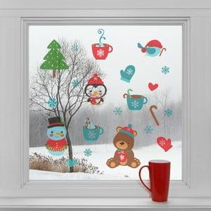 Elektrostatické vianočné samolepky Vianočná pohoda